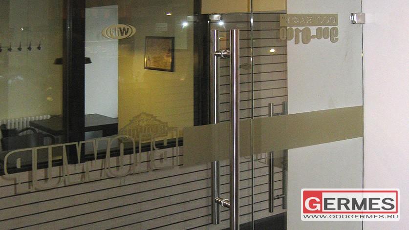 Двери стеклянные для BEER CAFE