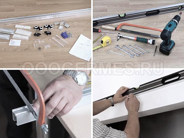 Подготовка фурнитуры, инструментов и нанесение разметки