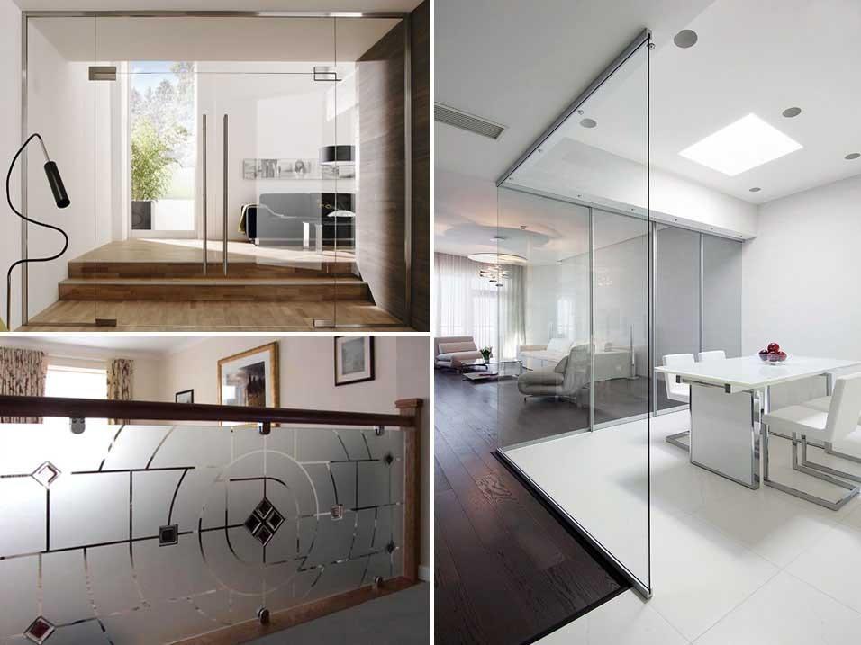 Домашние стационарные стеклянные перегородки