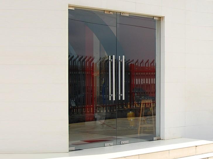 Входная цельностеклянная дверь