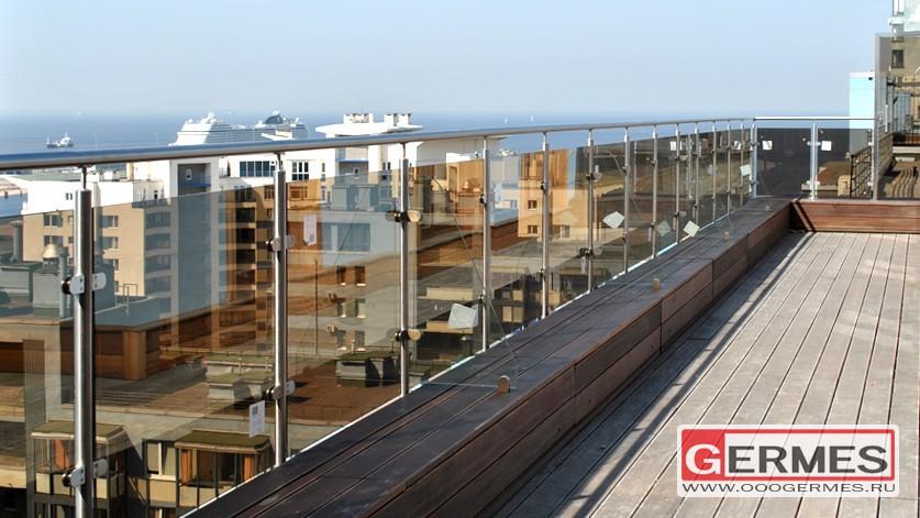 Ограждение балкона на 18 этаже