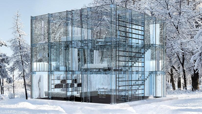Интерьеры и фасад из стекла