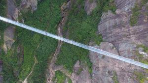 Подвесной мост из стекла