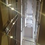 Вид снизу лестничного пролета