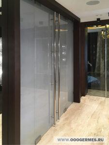 Двустворчатая стеклянная дверь