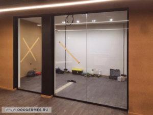 Перегородки из стекла без дверей
