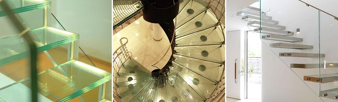 Примеры стеклянных лестниц