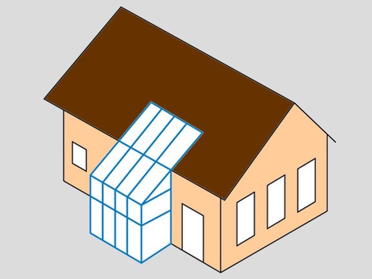 Зимний сад 6 - с интеграцией в крышу