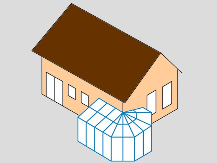 Зимний сад угловой 3 - односторонний многоугольник