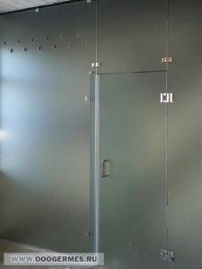 Душевой блок с распашной дверью