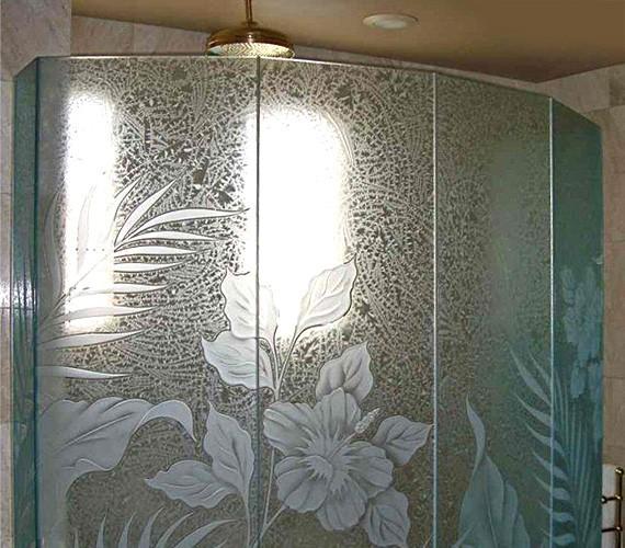 Ограждение с эксклюзивным дизайном стекла