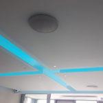 Подвесной стеклянный потолок с подсветкой