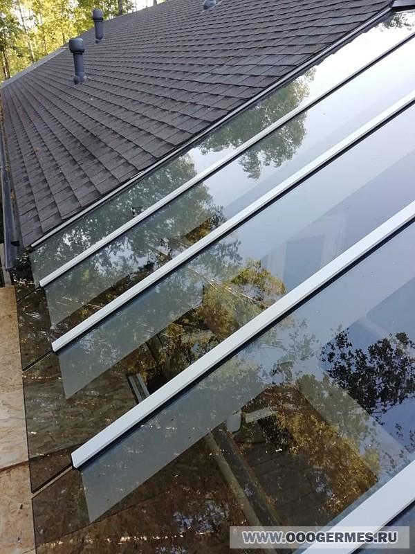 Остекление крыши на основе алюминиевого профиля