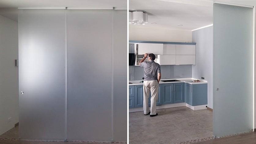 Телескопическая перегородка между кухней и гостиной
