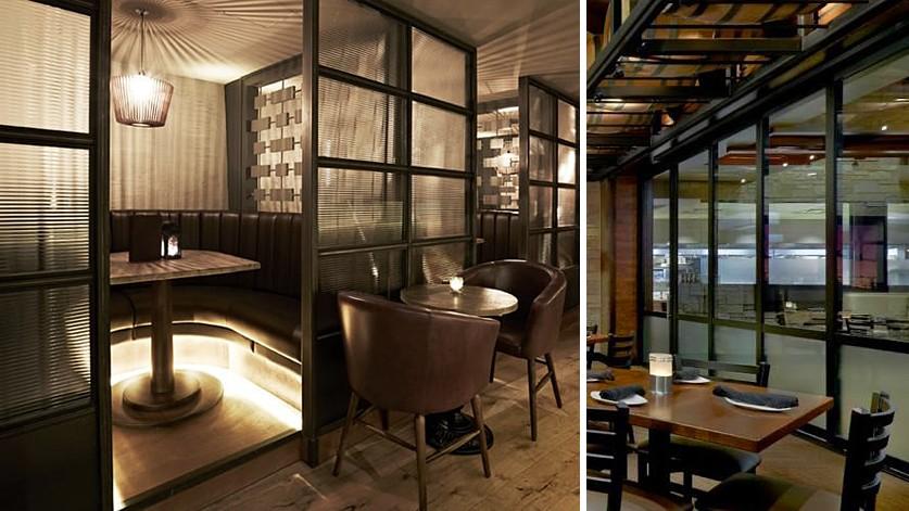 Каркасные перегородки со стеклом для кафе и ресторана