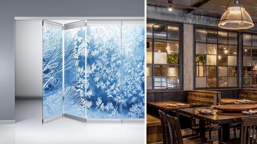 Дизайнерские стеклянные перегородки для ресторанов и кафе
