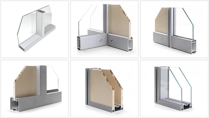 Алюминиевый профиль для стеклянных перегородок