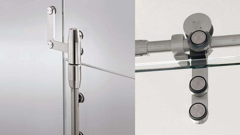 Дверные системы на точечных креплениях