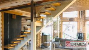 Конструкции из стекла для деревянного дома