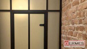Две перегородки в стиле LOFT с дверями