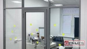 Перегородки с двойным остеклением, алюминиевые для офиса